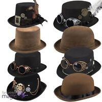 Adults Steampunk Victorian Gothic Cosplay Halloween Fancy Dress Accessory Hat