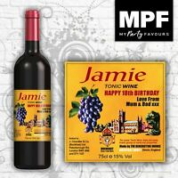 Personalised Birthday 'Buckfast' Tonic Wine Bottle Label Any Name, age, message