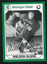 Weldon Olson signed autograph auto Michigan State Collegiate Collection Card