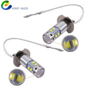 New 2*H3 6000K White  50W High Power LED Fog Light Driving Bulb DRL #2 USPS
