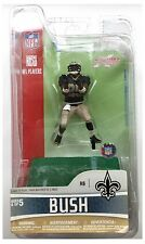 "Reggie Bush New Orleans Saints NFL McFarlane Noir Jersey 3"" Action Figure"