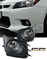 2011 2012 2013 Scion TC Fog Lights Clear Lens Front Bumper Lamps Complete Kit