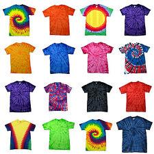 Childrens Tie Dye T Shirt Top Tee Tye Die Music Festival Hipster Kids Boys Girls