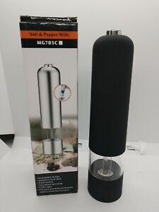 Salt/Pepper or Spice Mill Thumb Press Grinder. LED light adjustable coarseness