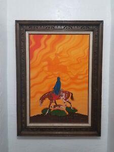 Beatien Yazz gouache large painting