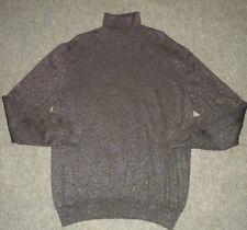 Dolce & Gabbana Black Metallic Glitter Wool Blend Turtleneck Sweater Sz XL Italy