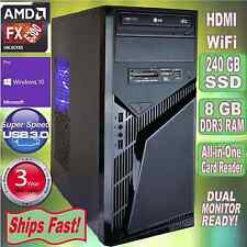 AMD FX 6300 4.1GHz Turbo 6-Core Desktop PC~8GB DDR3~240 GB SSD~HDMI~Win 10 Pro