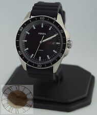 Mens's Fossil Watch, Sport 54 Black Silicone Strap Watch FS5290, New