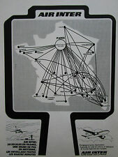 5/1983 PUB COMPAGNIE AERIENNE AIR INTER AIRBUS MERCURE ORIGINAL FRENCH AD