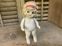Antique Bisque Jointed Arm Flapper Style Kewpie Doll Made in Japan