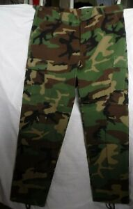 GENUINE U.S ARMY ISSUE HOT WEATHER VERSION WOODLAND CAMOUFLAGE COMBAT TROUSERS
