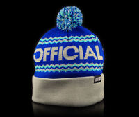 Stay Official - Blue and Cream Togano Teal Pom Beanie