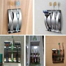2 /3Holes Bathroom Wall Mount Stand Toothbrush Holder Dispenser  Stainless Steel