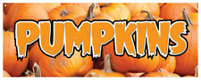 Pumpkins Banner Halloween Pie Decorations Food Retail Store Sign 36x96