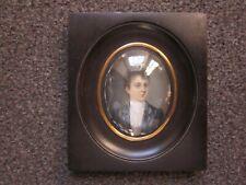 Portrait miniature jeune femme