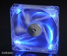 Akasa 120mm Crystal Blue LED Case Fan Sleeve Bearing