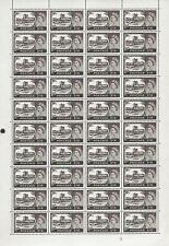 1963 No Watermark castles FULL SET in sheets 4 values UNMOUNTED MINT