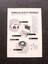L609- Advertising Pubblicità -1957- ARVAL , OLIO DI TARTARUGA