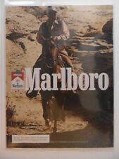 1981 Print Ad Marlboro Man Cigarettes ~ Western Cowboy Riding Horse Desert