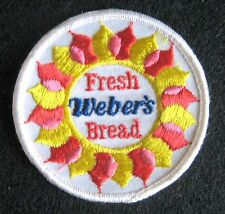 WEBER BREAD EMBROIDERED SEW ON ONLY PATCH BAKERY INTERSTATE BRANDS UNIFORM 3""