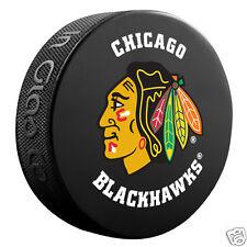 CHICAGO BLACKHAWKS Basic Model Team Logo SOUVENIR PUCK NEW Inglasco