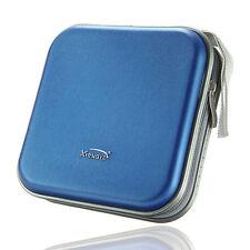 New 40 Disc Plastic CD DVD Wallet Storage Bag Case Holder Album Organizer Blue