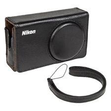 Borsa Custodia Nikon CS-P07 Originale in Pelle Nera x Coolpix P300 P310