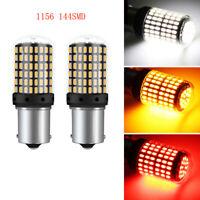 Paar 1156 BA15S 3014 144SMD Fehlerfrei LED Blinker Lampe Rücklicht Birne 12-24V