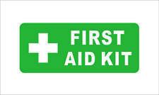 First Aid Kit Sticker Die Cut Decal Self Adhesive Vinyl Car Window Bumper Decor