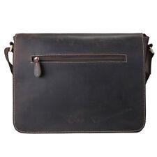Vintage Leather Men Messenger IPAD Shoulder Sling Bag Crossbody Business Satchel