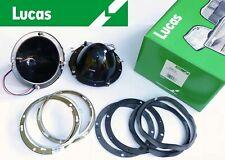 "Lucas Pair of 7"" Inch Headlight Headlamp Back Bowls Classic Car Austin Mini SBC3"