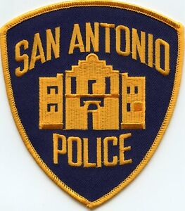 SAN ANTONIO TEXAS TX dark blue background POLICE PATCH