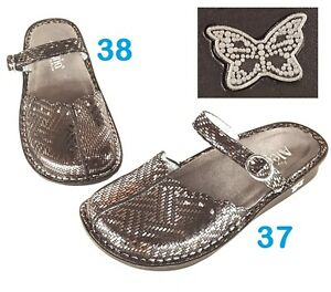 Alegria Tuscany Mules Pewter Dazzler rt 38 left 37 DIFFERENT SIZES Slide Comfort