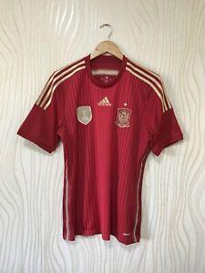 SPAIN 2014 HOME FOOTBALL SHIRT SOCCER JERSEY ADIDAS G85279
