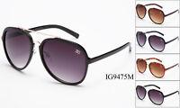 12 Pairs New Women Fashion Aviator Metal & Plastic Designer Sunglasses Wholesale
