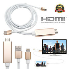 Lightening Connect to HDMI TV AV Cable Adapter For Apple iPhone 5&5S 6&6S 7 iPad