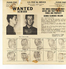 VINTAGE 1971 US POSTAL SERVICE WANTED REWARD - POST OFFICE THEFT/ARMED ROBBERY