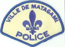Ville de Matagami Police, Quebec, Canada Vintage Uniform/Shoulder Patch