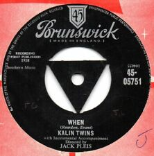WHEN / 3 O' CLOCK THRILL - KALIN TWINS  JUKEBOX DOUBLE SIDER