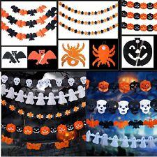 Paper Chain Garland Pumpkin Bat Ghost Spider Skull Shape Halloween Decorations