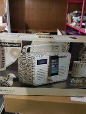 View Quest Retro Emma Bridgewater DAB Radio Speaker With 30 Pin Dock Black Toast