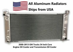 """Radiator For 2002-2014 CADILLAC ESCALADE EXT V8 34"""" CORE W/EOC & W/TOC HPR830"""