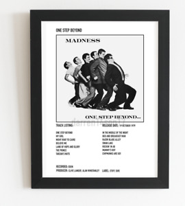 Madness Poster One Step Beyond Album Cover Polaroid Style 2 Tone Ska A4 / A3