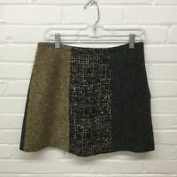 Vintage 90's Dolce Gabbana Patchwork Wool Mini Skirt Size 42 Or 6