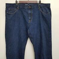 Old Navy Mens Straight Leg Jeans 46x30 Dark Wash 100% Cotton Denim