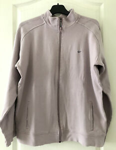 NIKE Women's Tracksuit Top Jacket Size XL UK 18 Purple Ladies Activewear Zipped