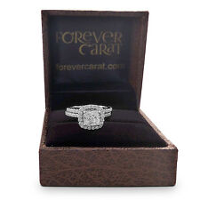 2.00 Ct Diamond Engagement Rings Sets Solid 14kt Gold Cushion Size I M N P O S