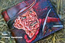 Freddy Krueger, A Nightmare on Elm Street, Carved Wallet, Mens leather wallet