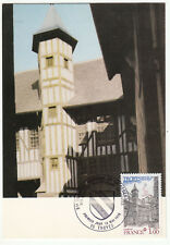 CARTE MAXIMUM FDC 1978 TIMBRE N° 2011  TROYES HOTEL DE MAUROY MAISON DE L OUTIL