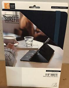 🌍 Case Logic Surefit Folio for 9-10 inch Tablets-Blue,Open box ‼️